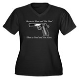 Molon Labe Women's Plus Size V-Neck Dark T-Shirt
