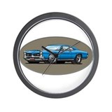 66-67 Blue GTO Wall Clock