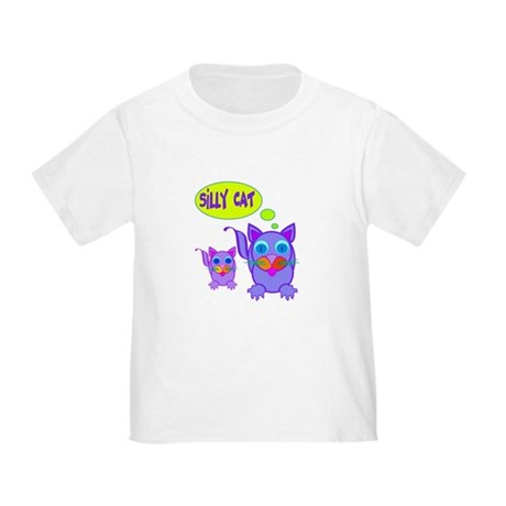 Silly Cat Says Toddler T-Shirt