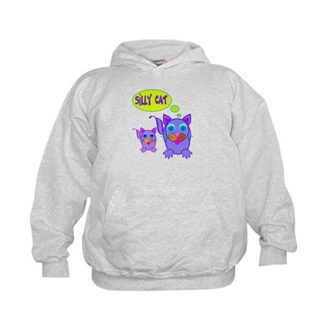 Silly Cat Says Kids Hoodie