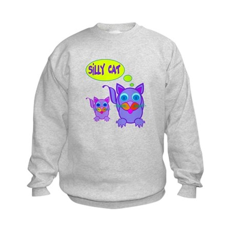 Silly Cat Says Kids Sweatshirt