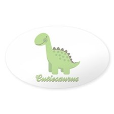 Cutiesaurus Oval Sticker (10 pk)