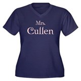 Mrs. Cullen (Pink) Women's Plus Size V-Neck Dark T