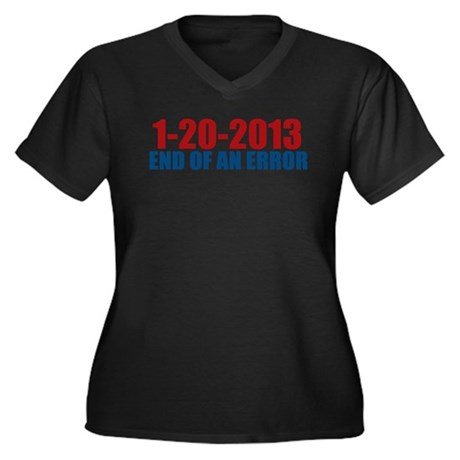 1-20-2013 End of Error Women's Plus Size V-Neck Da