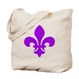 Purple Fleur-de-Lys Tote Bag