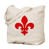 Red Fleur-de-Lys Tote Bag