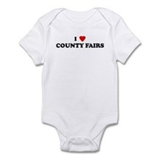 I Love COUNTY FAIRS Infant Bodysuit