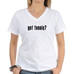 got tennis? Women's V-Neck T-Shirt