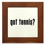 got tennis? Framed Tile
