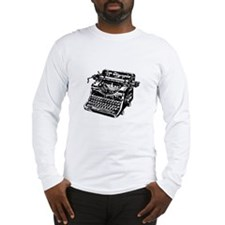 """Vintage Typewriter"" Long Sleeve T-Shirt"
