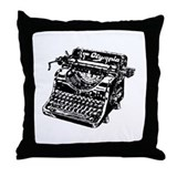 """Vintage Typewriter"" Throw Pillow"