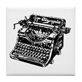 """Vintage Typewriter"" Tile Coaster"