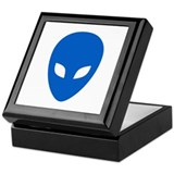 Blue Alien Keepsake Box
