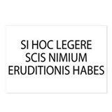 Si hoc legere latin Postcards (Package of 8)