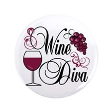 "Wine Diva 3.5"" Button (100 pack)"