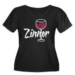 Zinner Women's Plus Size Scoop Neck Dark T-Shirt