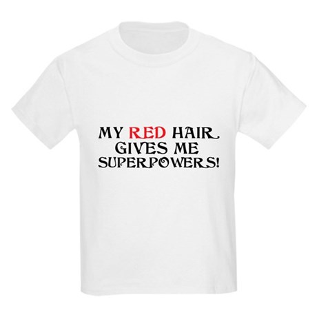 Red Headed Superpowers Kids Light T-Shirt