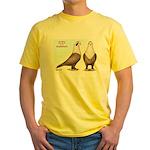 Shakhsharli Pigeon Standard Yellow T-Shirt