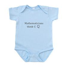 Mathematicians think rationally Infant Bodysuit