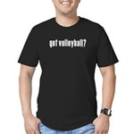 got volleyball? Men's Fitted T-Shirt (dark)