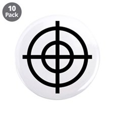 "Black Sight 3.5"" Button (10 pack)"