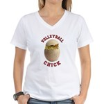 Volleyball Chick 2 Women's V-Neck T-Shirt