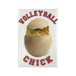 Volleyball Chick 2 Rectangle Magnet (100 pack)