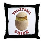 Volleyball Chick 2 Throw Pillow