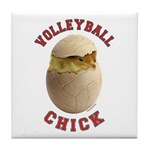 Volleyball Chick 2 Tile Coaster