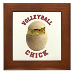 Volleyball Chick 2 Framed Tile
