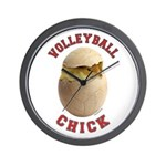 Volleyball Chick 2 Wall Clock