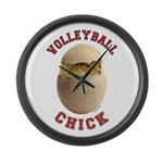 Volleyball Chick 2 Large Wall Clock