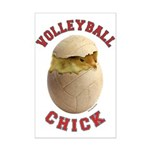 Volleyball Chick 2 Mini Poster Print
