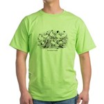 Shortface Tumbler Pigeons Green T-Shirt