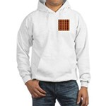 Orange And Yellow Latticework Hooded Sweatshirt