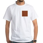 Orange And Yellow Latticework White T-Shirt