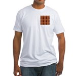 Orange And Yellow Latticework Fitted T-Shirt