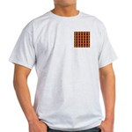 Orange And Yellow Latticework Light T-Shirt