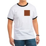 Orange And Yellow Latticework Ringer T