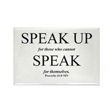 Speak Up Rectangle Magnet (10 pack)