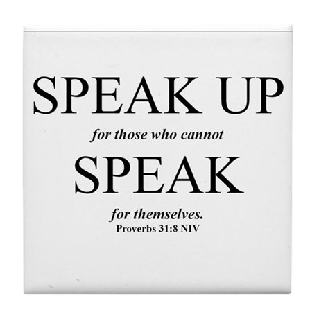 Speak Up Tile Coaster