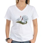 Beltsville White Turkey Women's V-Neck T-Shirt