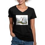 Beltsville White Turkey Women's V-Neck Dark T-Shir