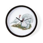 Beltsville White Turkey Wall Clock