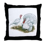 Beltsville White Turkey Throw Pillow
