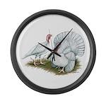 Beltsville White Turkey Large Wall Clock