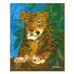 Leopard Tree Small Poster