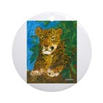 Leopard Tree Ornament (Round)