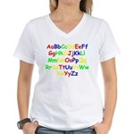 Alphabet in color Women's V-Neck T-Shirt