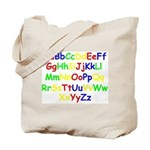 Alphabet in color Tote Bag